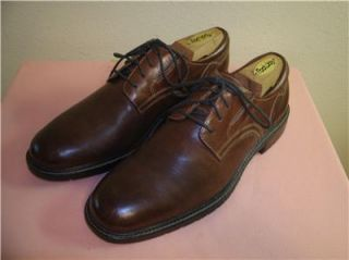 JOHNSTON MURPHY BROWN LEATHER OXFORD DRESS SHOES U S SIZE 8 5 M MENS