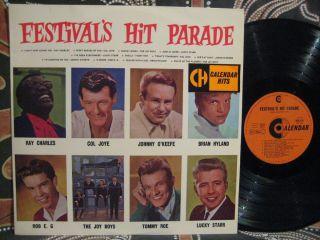 Johnny O'Keefe Col Joy Rob E G Joys Boys 1960s Festival's Hit Parade oz LP