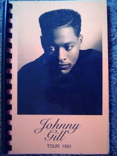 I31 Johnny Gill Itinerary Book issued to Band Crew
