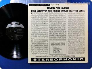 DUKE ELLINGTON NM WAX JOHNNY HODGES Back To Back MG VS 6055 JAZZ LP D322