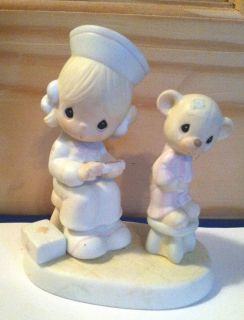 1981 Jonathan David Precious Moments Love Beareth All Things Figurine