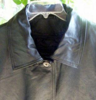 Sale Centigrade Woman Washable Black Leather Lined Coat Jacket Plus 1x