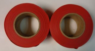 New Set of 2 Johnson Level and Tool Red Flagging Tape Model 3301