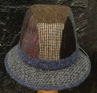 NEW Mens Irish Walking Hat Donegal Tweed Wool Walker Patchwork Jonathan Richard
