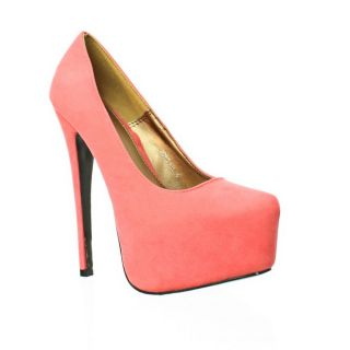 Womens Extra High Suede Style Platform Stiletto Heel Party Court Shoes Size 3 8