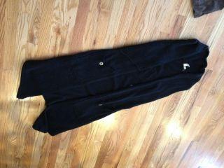 Tricot Joli long cardigan sweater Jacket Coat Black Wool Ladies Small