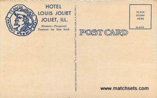 JOLIET ILLINOIS Hotel Louis Joliet Linen CURT TEICH CO POSTCARD