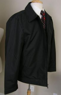 Joseph Abboud Baseball Jacket Quilted Lining Black Large L $195