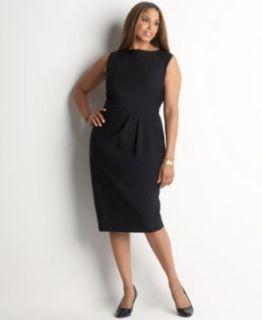 Jones New York NEW Black Modern Stretch Sleeveless Little Black Dress Plus 16W