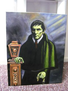 Jonathan Frid Barnabas Collins Dark Shadows Original Painting Famous Monsters