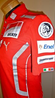 2011 Ducati Team Polo Shirt Rossi Hayden Size XS s L