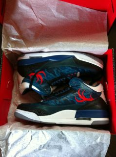 Nike Air Jordan III 3 Retro Deer Valley Titans True Blue Size 11 Very RARE