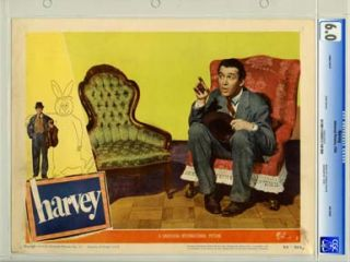 HARVEY Universal 1950 Lobby Card 7 CGC FN 6 0 JAMES STEWART
