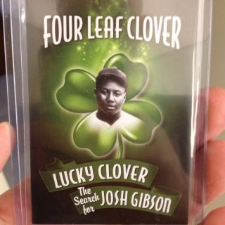2012 Four Leaf Clover Sports Icons Search for Josh Gibson Cut Auto Signed 1 1