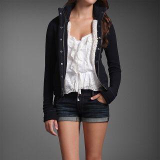 Abercrombie Fitch Women Jorie Hoodie Jacket Coat Heather Brown Medium