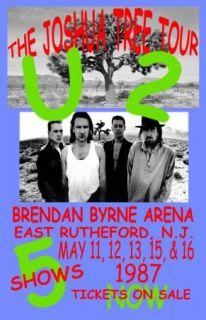 U2 Joshua Tree Tour Concert Poster