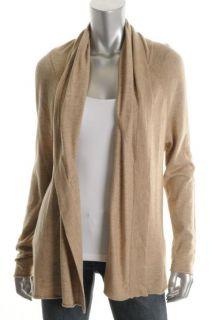 Josie NEW Beige Heathered Long Sleeves Open Front Cardigan Sweater M BHFO