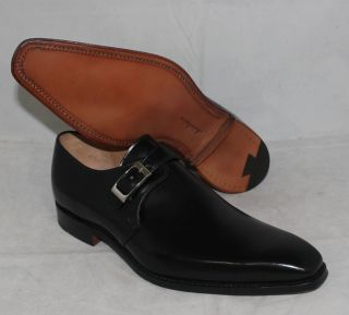 New Joseph Cheaney Black Monk Strap Men's Leather Dress Shoes England