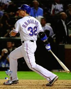 Josh Hamilton World Series Blast Texas Rangers MLB Poster Print