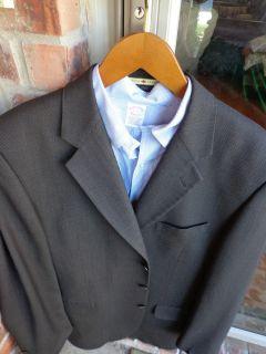 Joseph Abboud 3 Btn Wool Brown Mens Blazer Jacket Sport Suit Coat 42L Long Tall