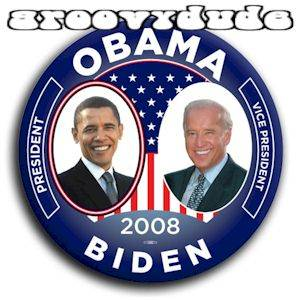 President Barack Obama Joe Biden 2008 Pin Button FLAG Jugate Campaign Pinback