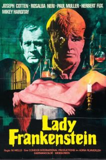 Lady Frankenstein Poster Joseph Cotten German Style
