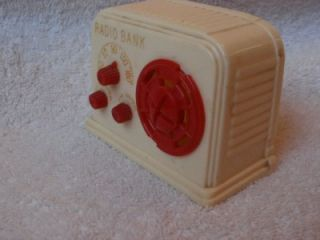 Vintage Ideal Retro Table Radio  Design Coin Still Bank