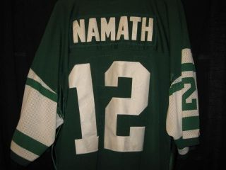 Joe Namath Mitchell Ness Jersey 1970 Throwback New York Jets Size 60 RARE