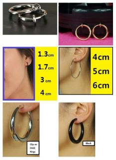 Hoop Fake Nose Lips Ring Spring Earring man woman 1 7cm