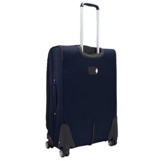 Jourdan Lightweight 3 Piece Expandable Upright Spinner Luggage Set Navy Blue