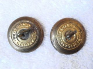2 WM Scully Montreal Crown Eagle In Flight Military Uniform Brass Buttons