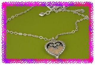 Brighton Silver Pink Joy Heart Necklace NWotag |