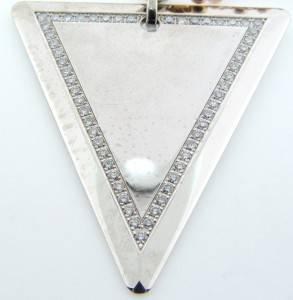 MENS 14K GOLD ROSE WHTE CHRIS AIRE JOY PROSPERITY DIAMOND NECKLACE 30