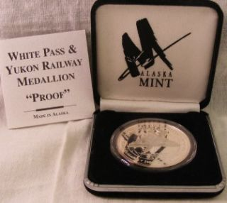 Alaska Mint White Pass Yukon Route Centennial Proof Medallion 1 oz 999 Silver