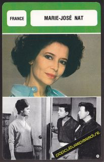 Marie Jose Nat Movie Star French Biography Photo Card