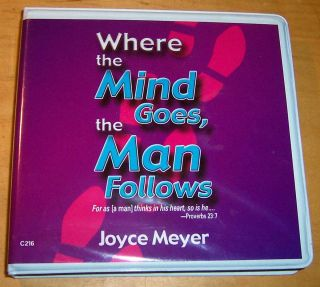 JOYCE MEYER WHERE THE MIND GOES THE MAN FOLLOWS AUDIO 5 CDs