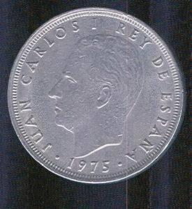 1975 Spain 25 PTAS Coin Juan Carlos I Rex de Espana