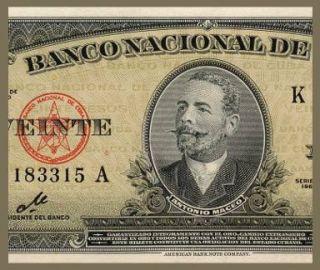 20 Pesos Note Cuba 1960 Che Guevara Signature UNC