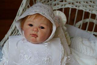 Reborn GORGEOUS JUDITH STOETE baby girl a lovely Heavens Breath Nursery creation