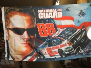 Dale Earnhardt Jr National Guard 3 x 5 2 Sided Flag New in Package
