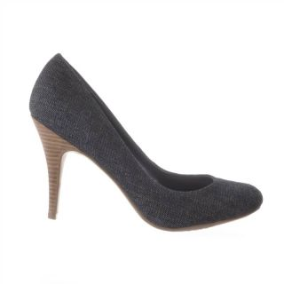 JS by Jessica Oscar Women's Heels Dark Blue Denim Shoes Sz 8 5