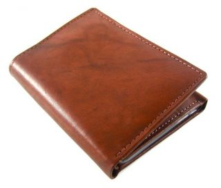 Joseph Abboud Leather Light Brown Trifold Wallet