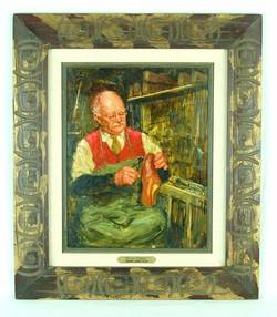 Richard Judson Zolan Occupational Oil Painting British Cobbler Shoemaker