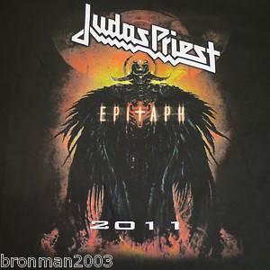 Judas Priest Black Label Epitaph 2011 Tour T Shirt in A Black XL Size
