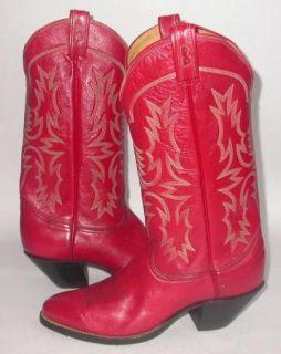 Ultra RARE Tony Lama Judi Buie Mens Red Cowboy Boots 11 D Black Label Mint