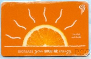 Jamba Juice Orange Scented 2008 Scratch Sniff Gift Card