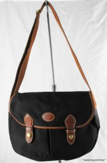 Longchamp Le Pliage Black Nylon Messenger Bag Purse