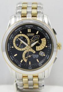 Mens Citizen Eco Drive Calibre 8700 Chronograph BL8004 53E Two Tone Watch
