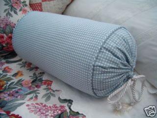 New Cust Ralph Lauren Blue Gingham Neck Pillow Allison