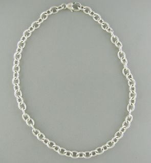 Judith Ripka Sterling Silver Chain Link Necklace